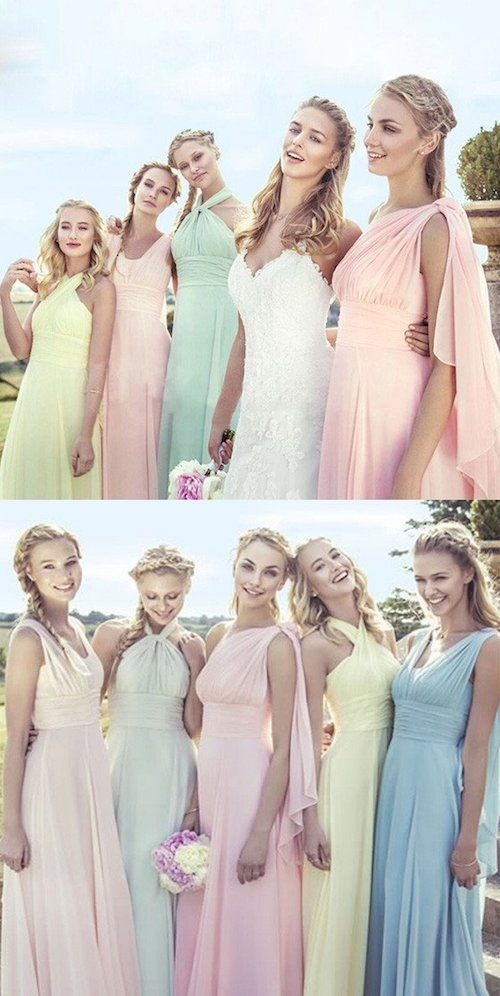 Make it easy for your bridesmaids and include them when picking their dress, both in color, style and budget.