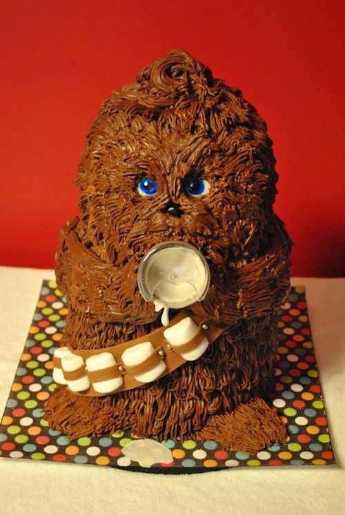 The legendary Wookiee warrior in piped chocolate ganache to help him restore freedom to the galaxy.