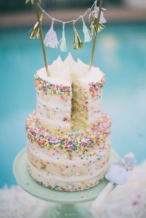 Sprinkle some fun with a confetti wedding cake!