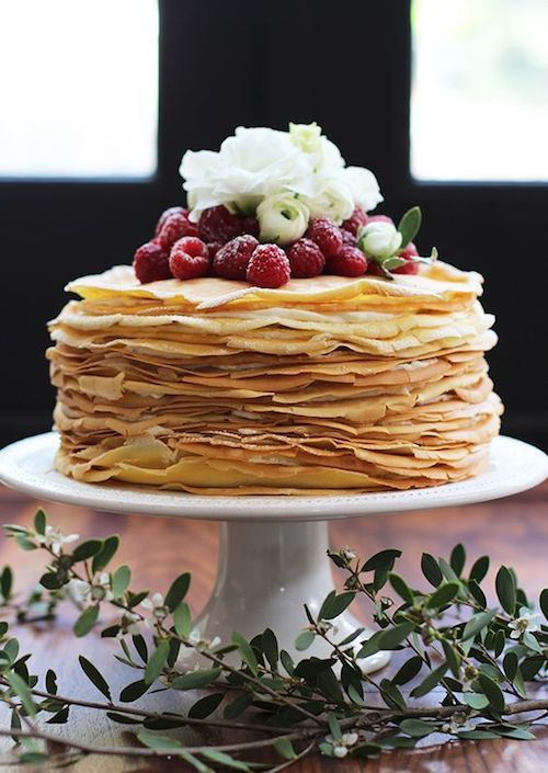 Fancy a lemon mascarpone crepe cake for the groom?