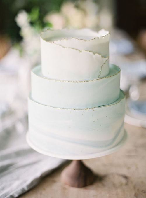 How about a deckle-edged cake for your big day? By young and merri.