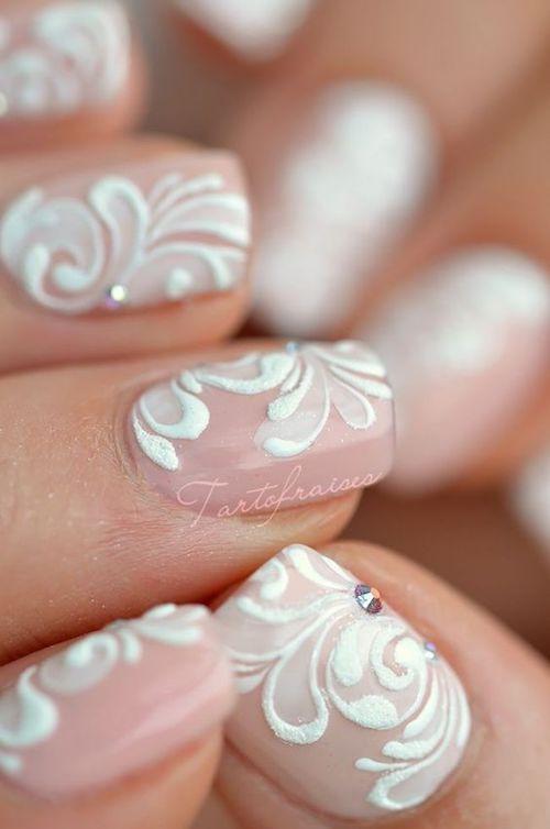 Todos admirarán el detalle de tus uñas.