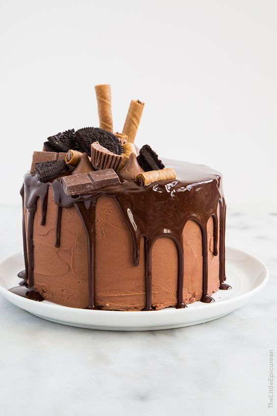 Drip cakes are all the rage and this Death by Chocolate confection takes the cake. Pun intended.