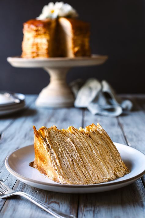 I don't know the groom that picked this dulce de leche crepe cake is, but he's brilliant. My mouth is watering already!