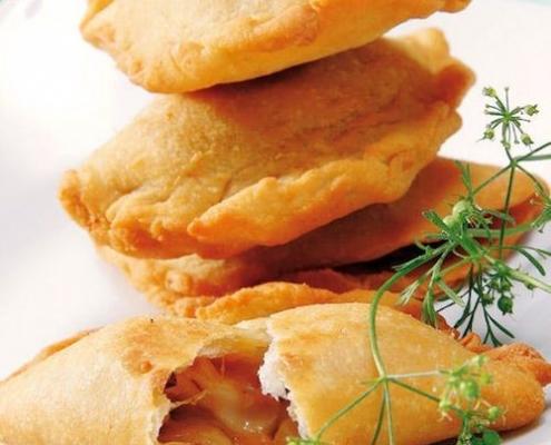 Empanadas para bodas campestres de queso y cebolla, ¡que delicia!