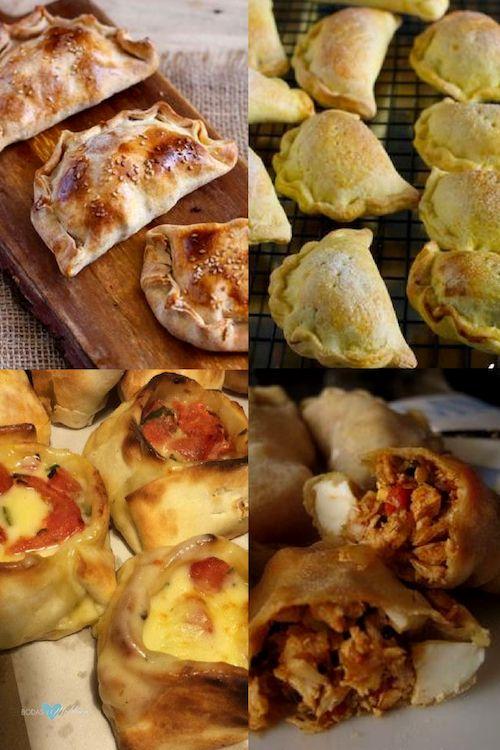 Disfruta de tu fiesta de bodas con unas sabrosas y crujientes empanadas de queso y camarón al horno o unas empanadas de pera. Clásicos de la cocina chilena. Las típicas canastitas capreses o empanadas de pollo argentinas. Foto: el sabor de lo bueno.