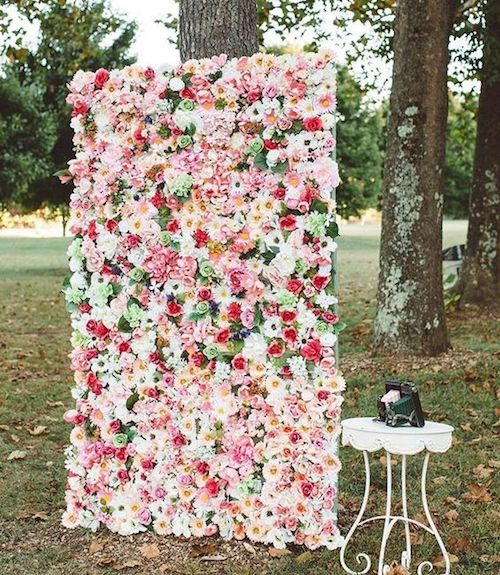 Jaw-dropping floral wedding backdrop.