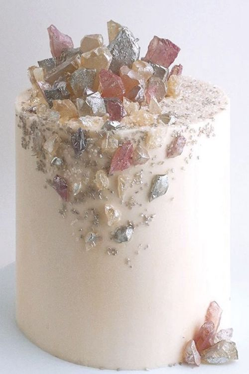 A nod to the geode trend with ultra smooth buttercream frosting.