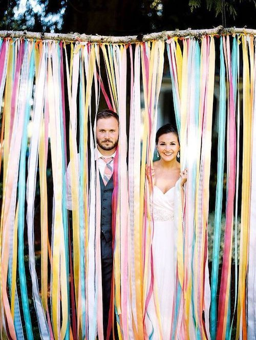 Discover how to make a ribbon backdrop like this one in minutes. It will make for the most instaworthy pics!