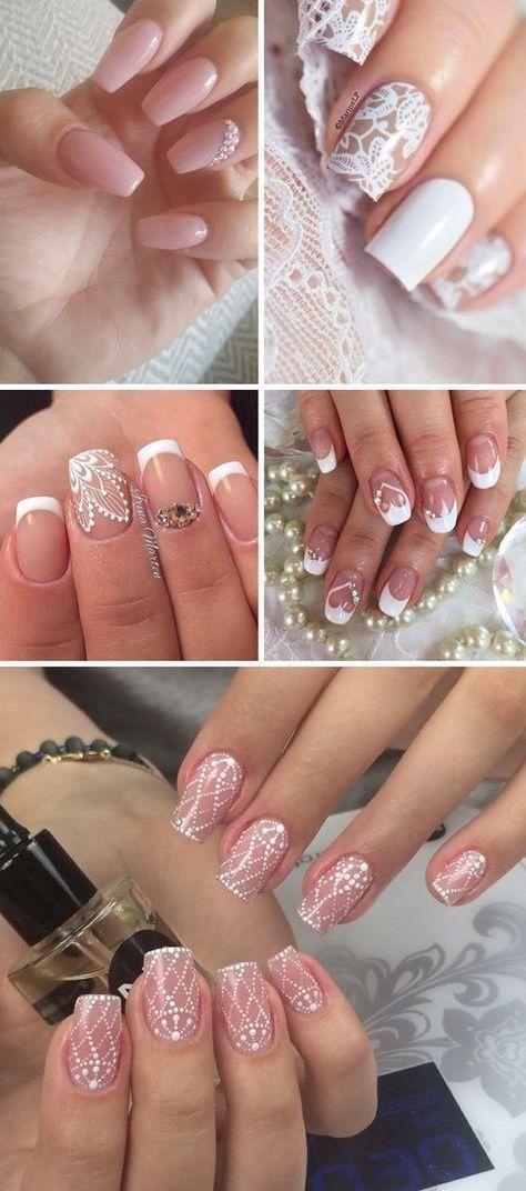 Ideas de uñas para bodas.