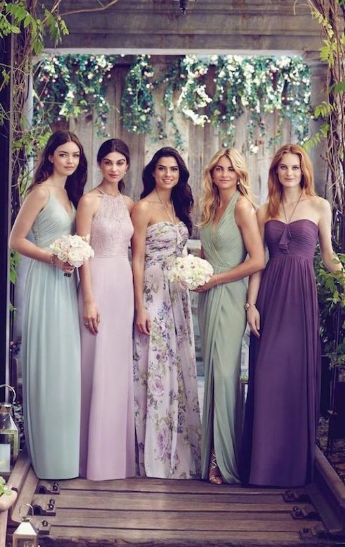 Tradition dictates that bridesmaids must wear the same dresses. Today a mismatched bridal squad looks even more harmonious and beautiful together!