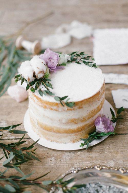 Single tier semi-naked cake by Liliya Bordarenko.