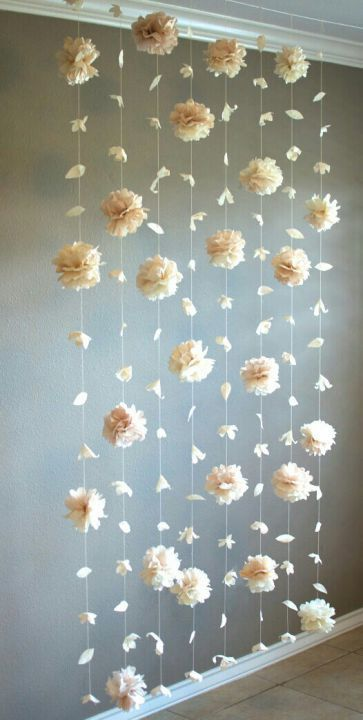 Elegant and simple floral backdrop.
