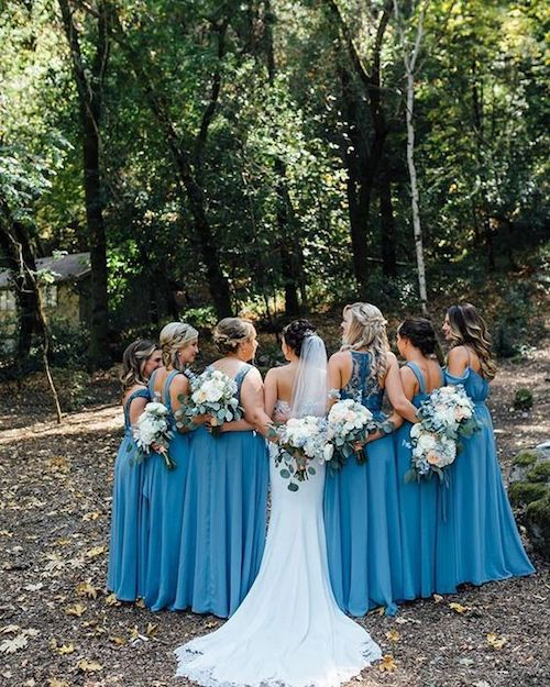 Bridesmaid dress etiquette: who pays for the dress? Kennedy Blue.
