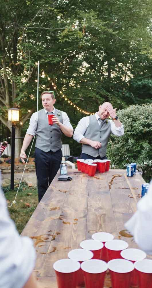 Yay for Beer Pong as wedding entertainment!
