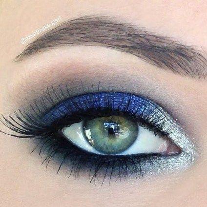 """Delineador de ojos en azul. La manera más original de llevar el """"algo azul"""" en tu boda."""