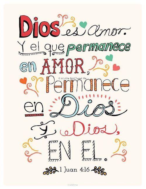 Frases religiosas para tus invitaciones de boda. Dios es amor Juan 4:16.