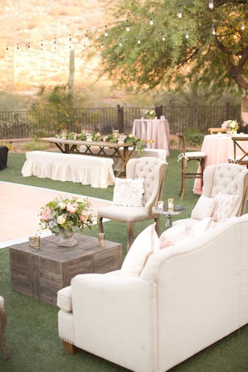 For a fancier fete bring your furniture outdoors.