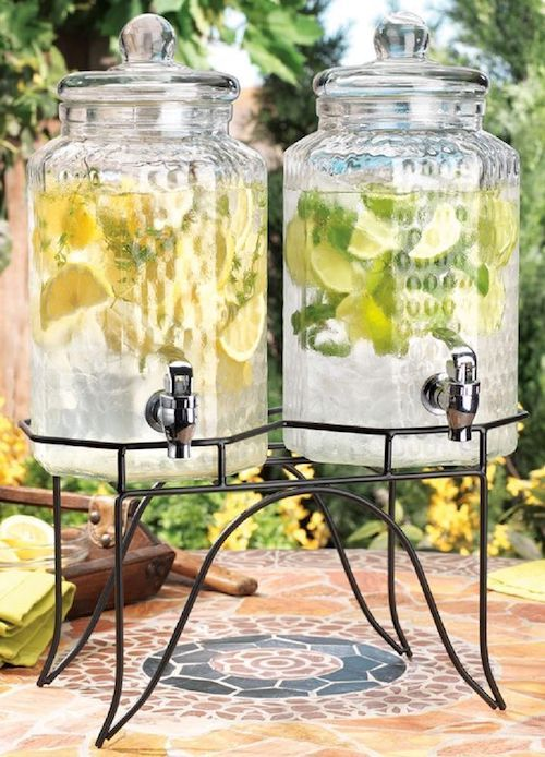Delight your guests with lemonade served from twin juice dispensers!