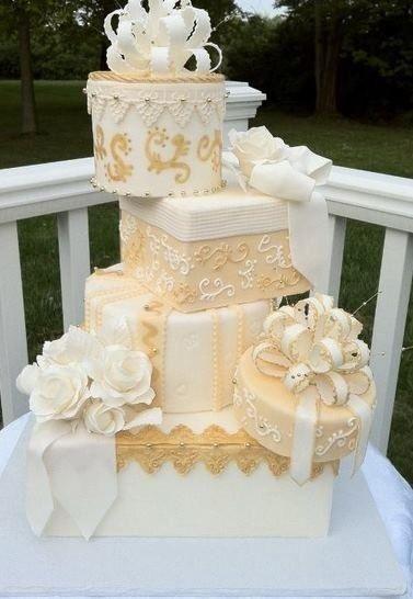Ah, el fondant! Para los pasteles de bodas más elegantes.