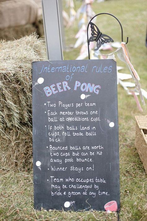 It's your wedding and your own backyard. Make it fun with a game of beer pong!