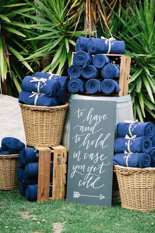 Check out these winter backyard wedding ideas!