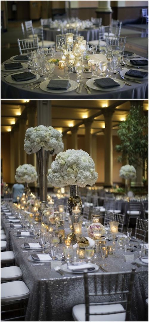Create a lasting impression on your guests with these gray wedding color combinations.