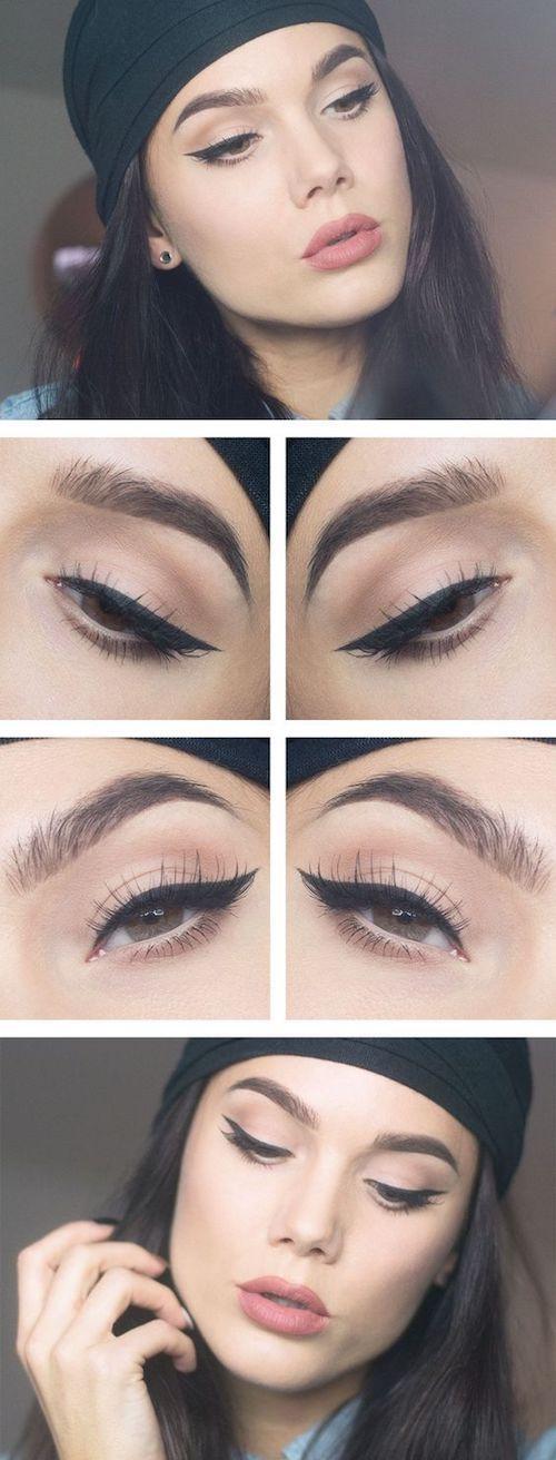 Maquillaje de ojos inspirado en Kylie Jenner. Simple pero muy bien equilibrado.