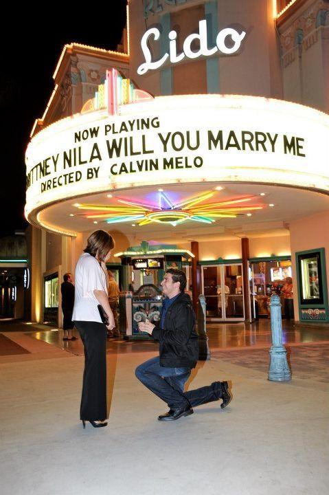 Un pedido de matrimonio perfecto e impecable.