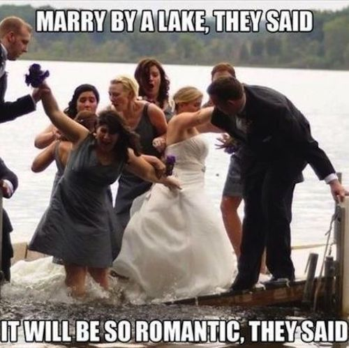 Priceless wedding fails.