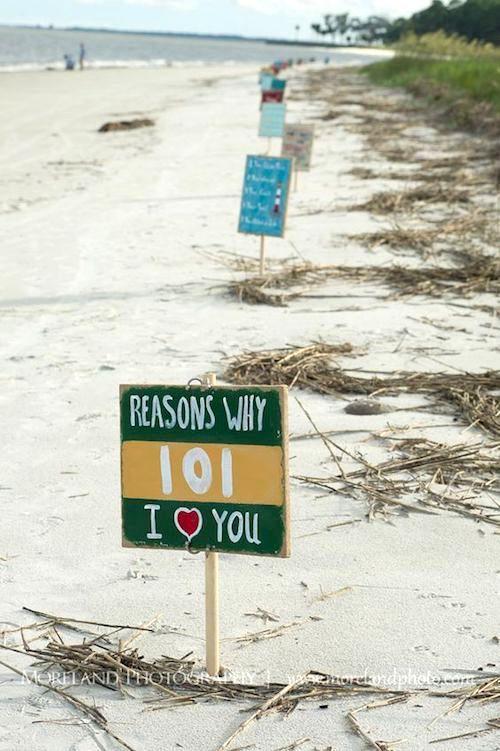 Razones por las que te quiero. ¿Quién puede decir que no a esta propuesta en Daufuskie Island, South Carolina? Fotografía: Moreland Photography.