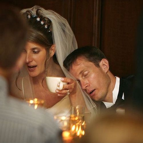 I guess the party went on a bit longer than planned. Wedding Photographer: John Zich of Illinois.
