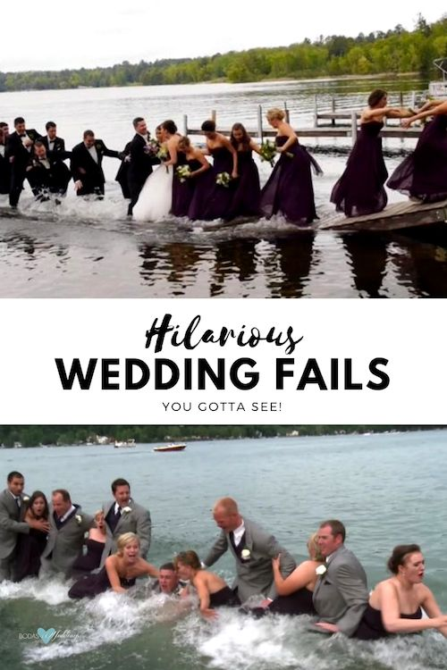 Sometimes accidents are inevitable. Wedding fails just happen.