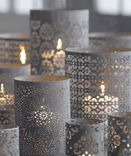 Feeling crafty? Original wedding reception candleholders.