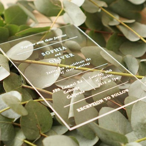 Breathtaking acrylic wedding invitations. You will treasure them forever! Via etsy from Madrid, Spain.