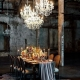 This wedding has all kinds of dramatic glam that contrast with the raw urban space. Venue The Fermenting Cellar in Toronto, ON. Photo by Purple Tree Photography.
