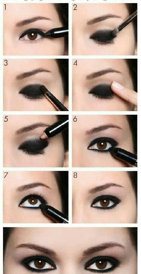 Replace this black eyeliner with a mauve or violet and rock your beautiful brown eyes.