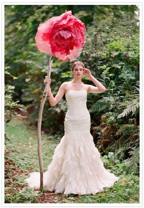 Hablando de flores de papel gigantes, ¿que opinas de esta?