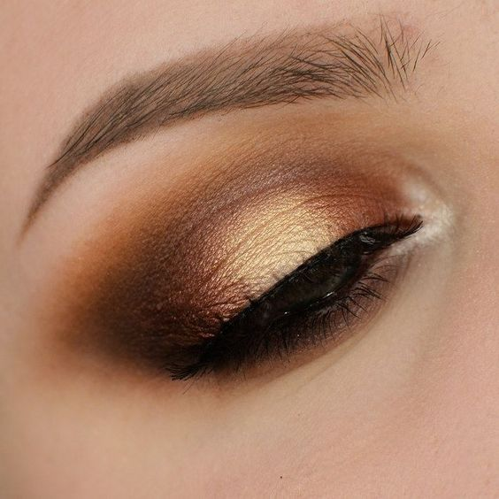 The lighter side of smokey: golds and browns.