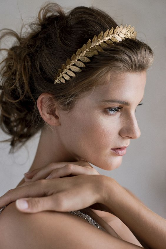 Hair and makeup, a handmade grecian inspired headband by Viktoria Novak plus the beauty of model Selma Lunden. Sephory Photography.