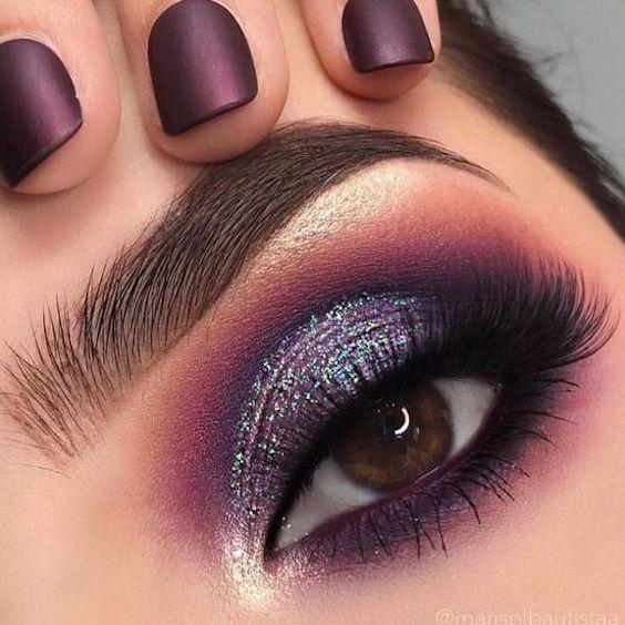 Purple eyeshadow makeup. Swoon!
