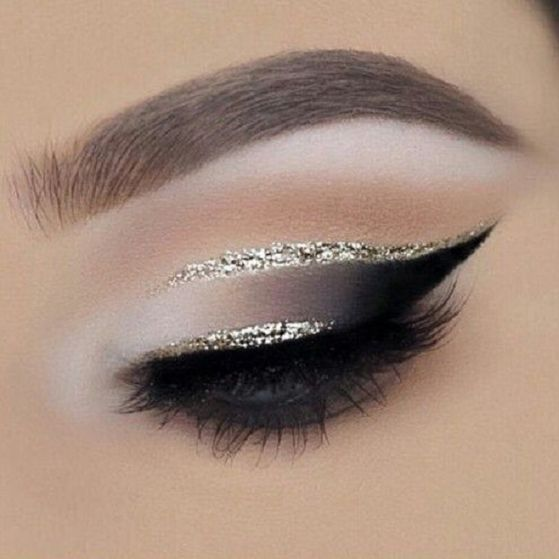 For a glamorous and festive look, add a short line of glitter. Sometimes a little goes a long way.