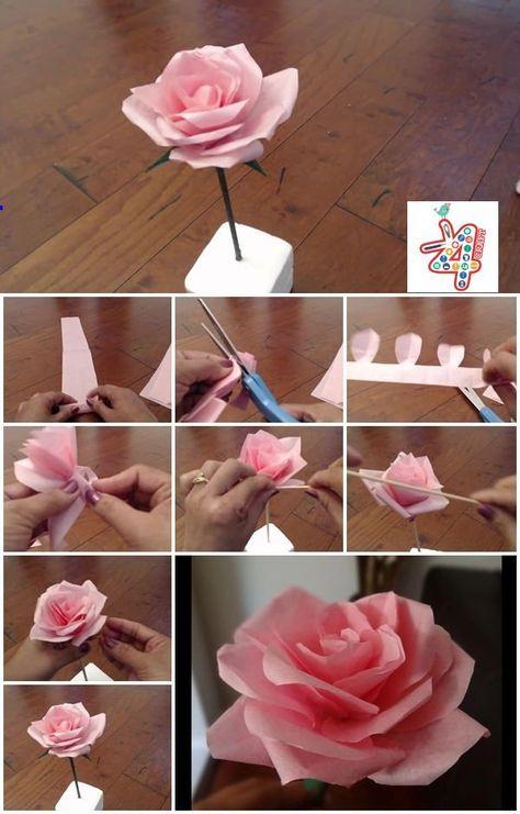 Un tutorial de rosas de papel que parecen reales por k4 craft.