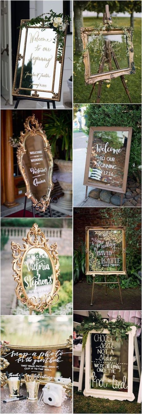 Mirrors, glass, clear acrylic are all onpoint as wedding decor ideas next year.