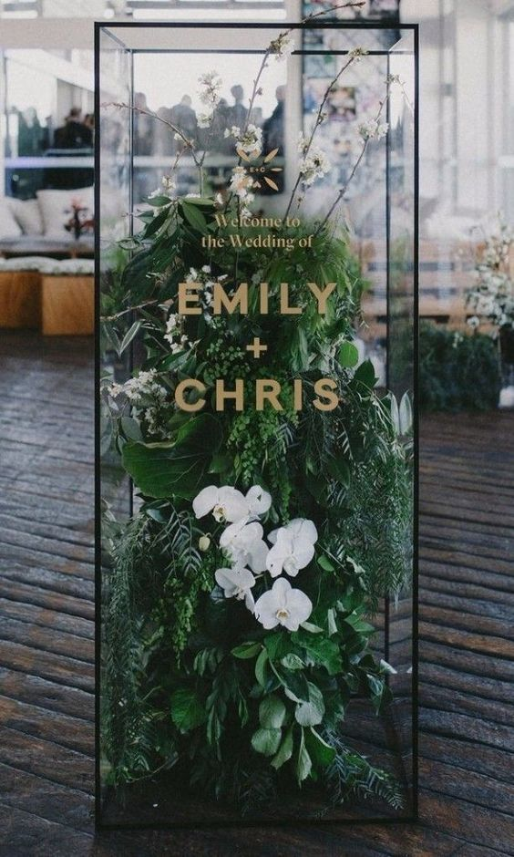 If this is the welcome sign, can you imagine what the rest of the wedding looks like?
