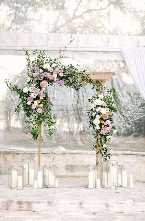 Pops of pink and greenery for this all white winter wedding at The Allan House in Austin, Texas.