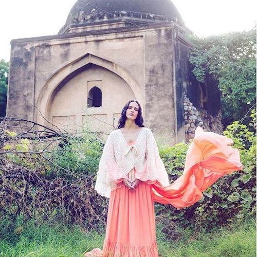 Bohemian aesthetic in coral.