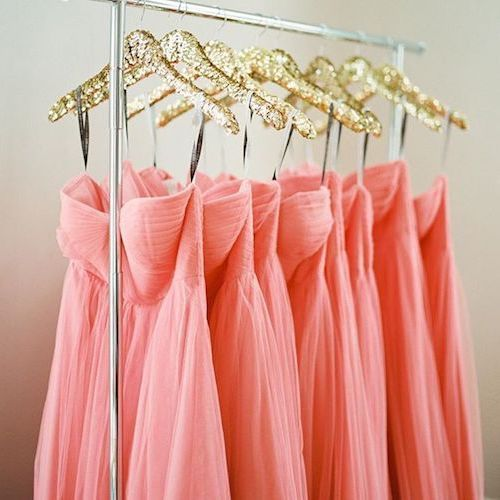 Imagine your bridesmaids in these lit long evening dresses!