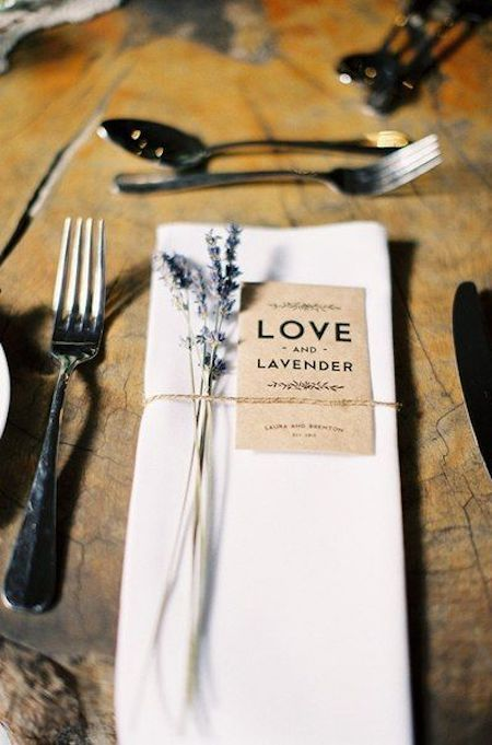 Place a sprig of lavender over each napkin and surprise your guests with its fragrance.