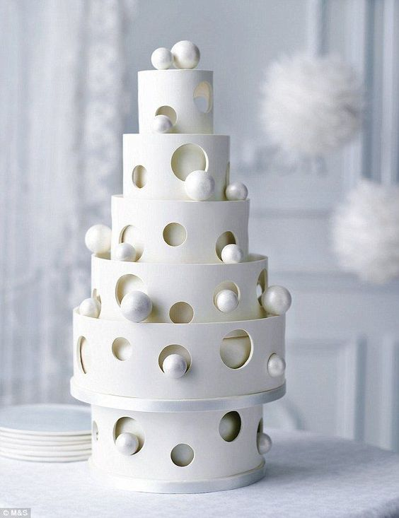 Hands down unique, this bauble chocolate wedding cake for the couple that wants to make a classy statement at their reception. By M&S.